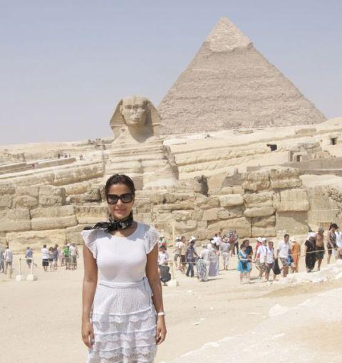 A viagem de Gyselle ao Egito foi para fotografar para uma revista francesa