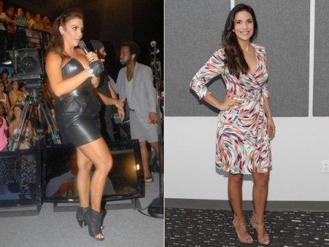 Mais enxuta: Ivete Sangalo em março, quando se apresentou na final do BBB10, e em Miami, nesta sexta-feira, 27