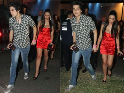 Luan Santana deixou a festa da premiação com participante de reality show