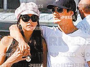 Alexandre Pato com a nova namorada